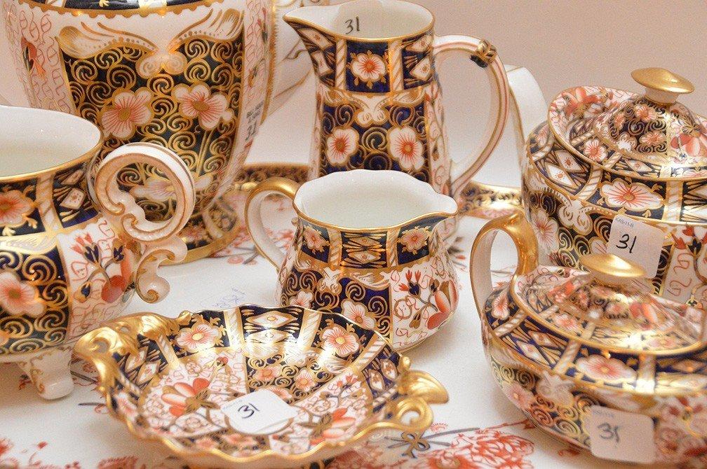 """8 Pieces Royal Crown Derby """"Imari"""" Porcelain , tea & - 2"""