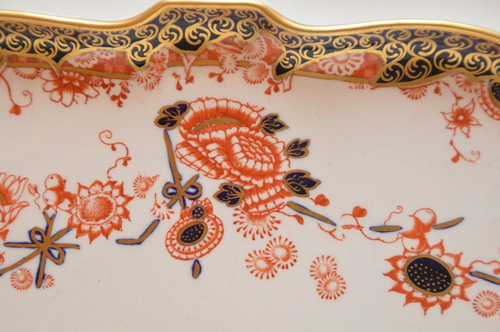 """8 Pieces Royal Crown Derby """"Imari"""" Porcelain , tea & - 4"""