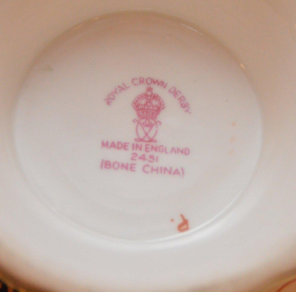 """8 Pieces Royal Crown Derby """"Imari"""" Porcelain , tea & - 5"""