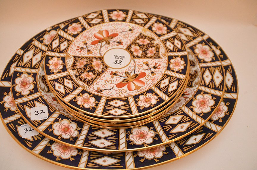 "11 Piece Royal Crown Derby ""Imari"" Part Porcelain - 10"