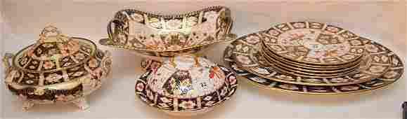 """11 Piece Royal Crown Derby """"Imari"""" Part Porcelain"""