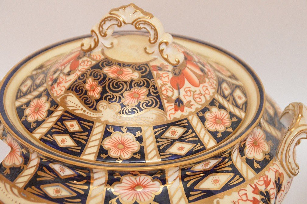 "11 Piece Royal Crown Derby ""Imari"" Part Porcelain - 3"