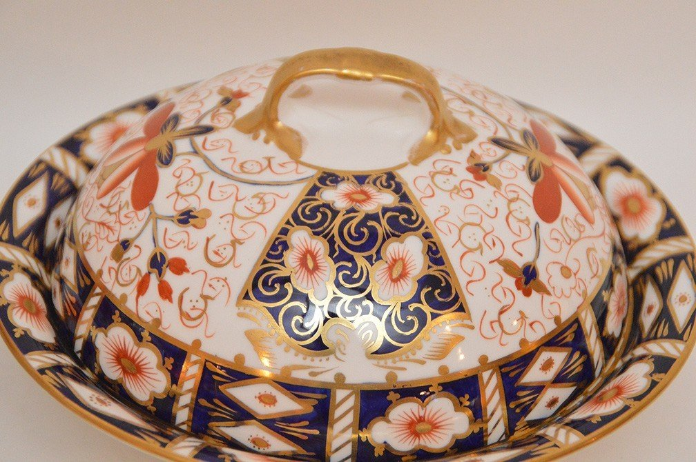 "11 Piece Royal Crown Derby ""Imari"" Part Porcelain - 4"