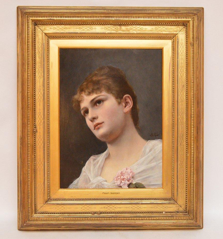 Alfred Seifert (CZECH, 1850-1901) oil on wood panel,
