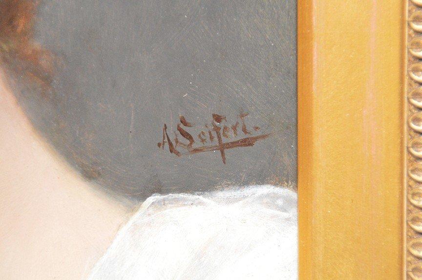 Alfred Seifert (CZECH, 1850-1901) oil on wood panel, - 3