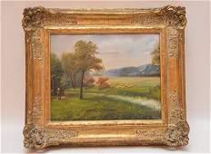 J. Durham 19th Century English School, oil on board,