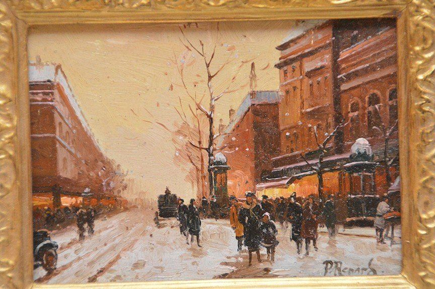 "Paul Renard (French/Dutch, 20th Century), ""Paris Winter - 2"