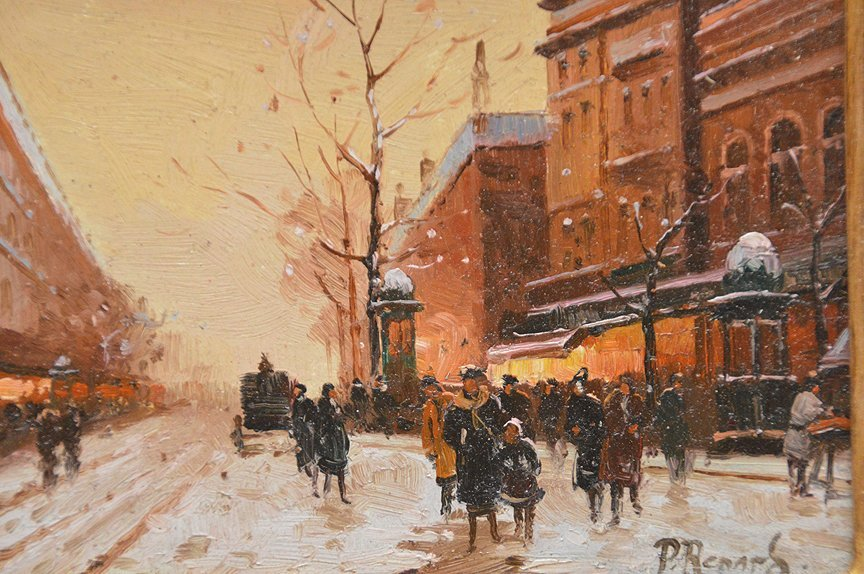 "Paul Renard (French/Dutch, 20th Century), ""Paris Winter - 3"