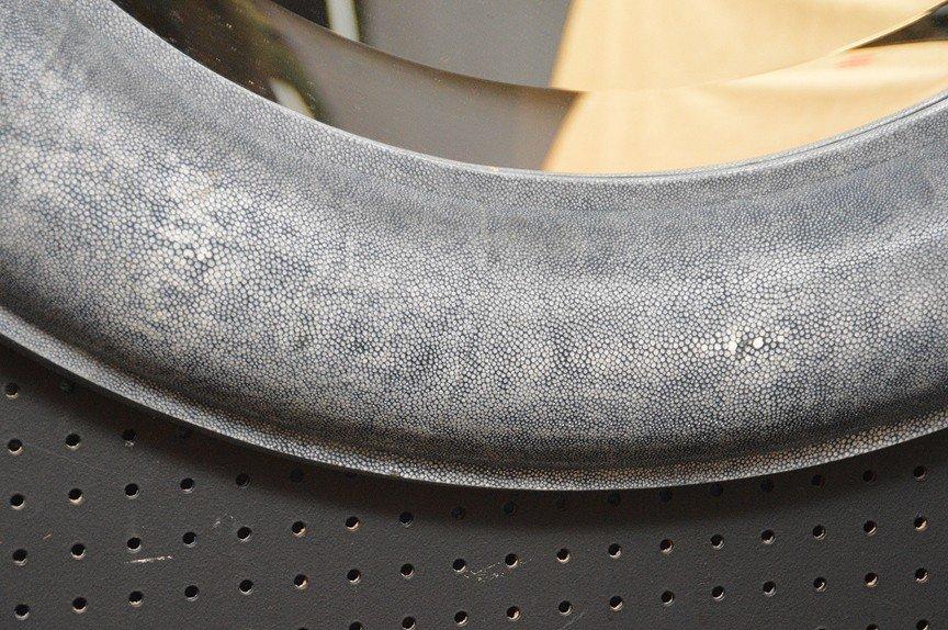 Shagreen stye round frame mirror attributed to Carl - 2