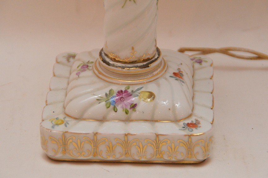 """German oil lamp converted, 22""""h (need to be lightened - 2"""