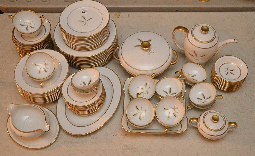 ___ pcs. Of Rosenthal china, incl; (gold wear to rims)