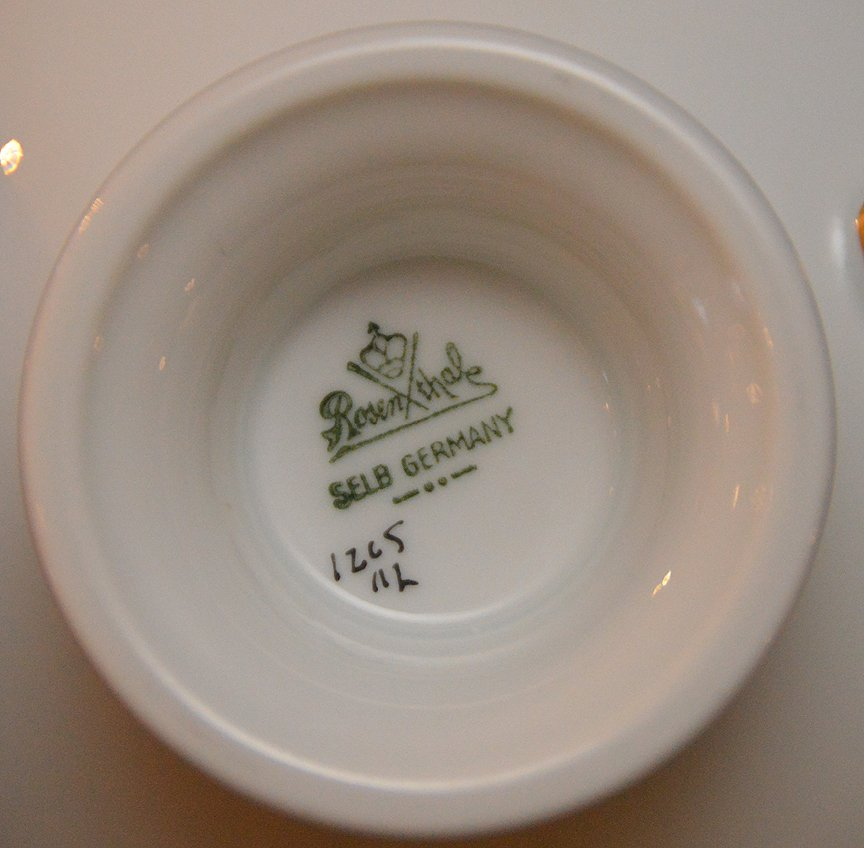 ___ pcs. Of Rosenthal china, incl; (gold wear to rims) - 4