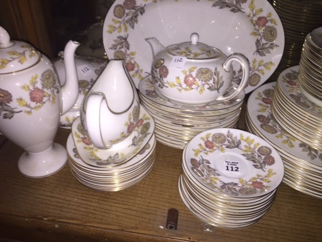 Wedgwood china set, Lichfield, service for 12, incl;
