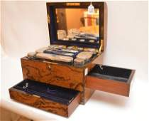 19th Century Coramandel Wood Case fitted for bottles