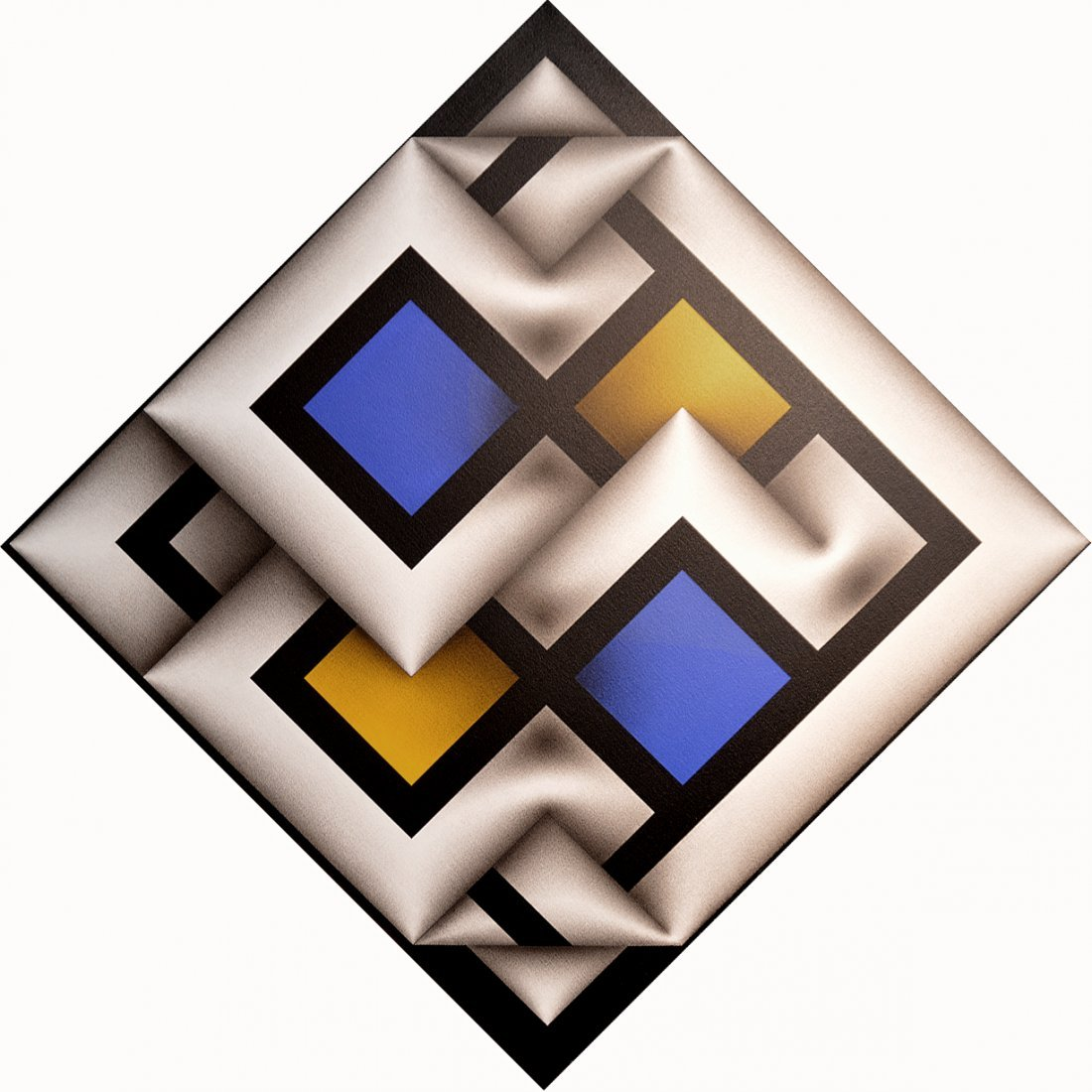 Omar Rayo COLOMBIAN Acrylic/Canvas Narabruz Modern Ptng
