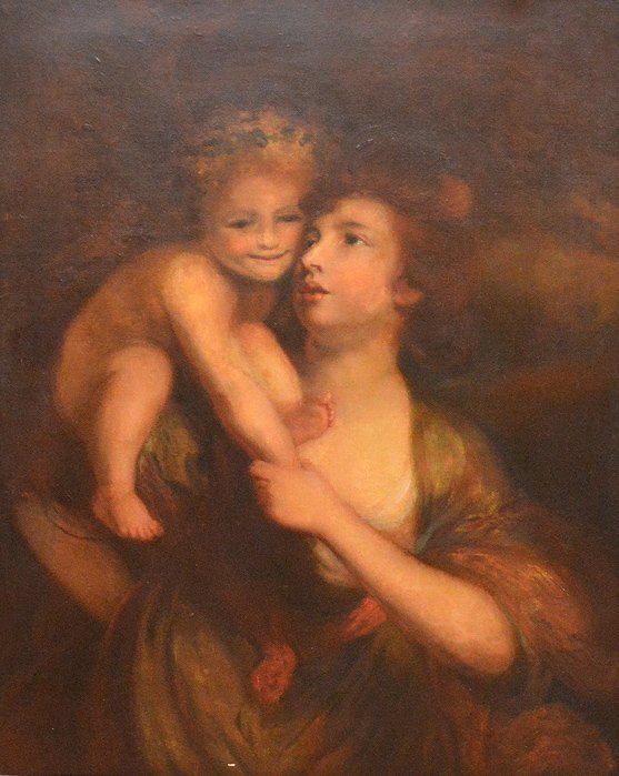 19th Century Continental School, oil on canvas, Mother - 2