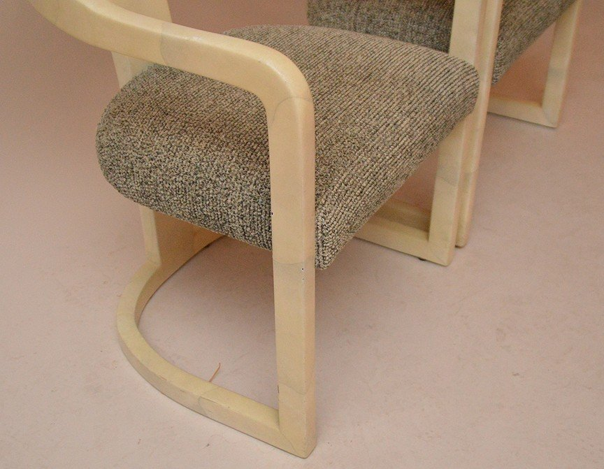 """Pair unsigned Springer arm chairs, 32""""h x 19""""d - 5"""