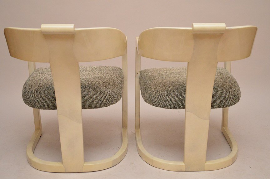 """Pair unsigned Springer arm chairs, 32""""h x 19""""d - 6"""