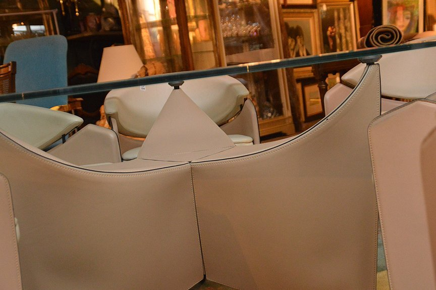 Designer Matteo Grazzi Modern Italian table & 6 chairs - 5
