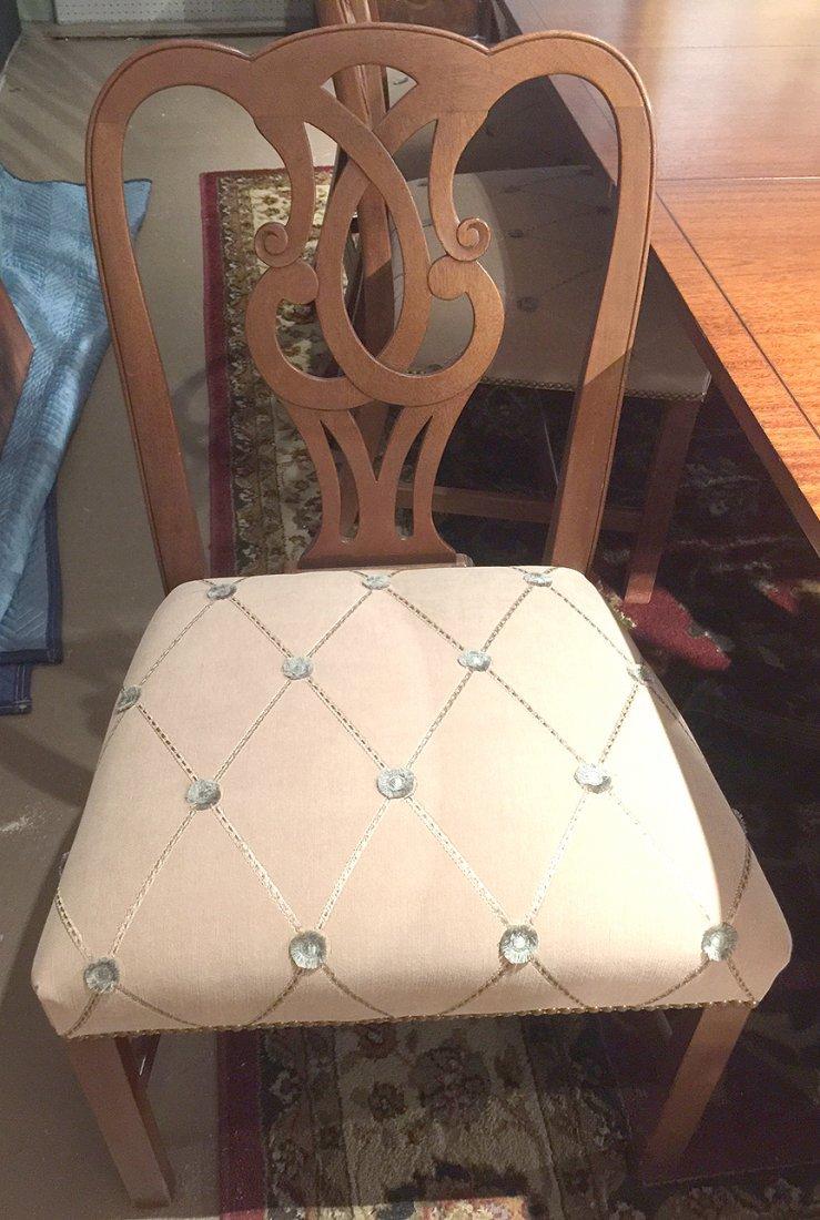 Mahogany Baker dining table sideboard & chairs - 3