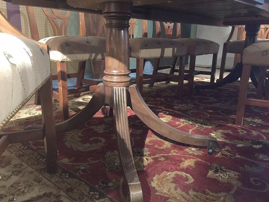 Mahogany Baker dining table sideboard & chairs - 5