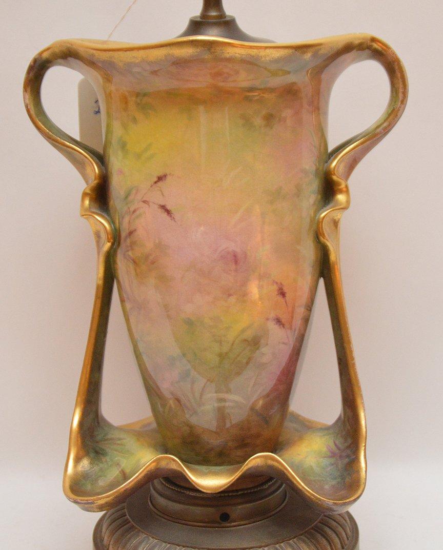 """Old Paris porcelain lamp, 32""""h - 4"""