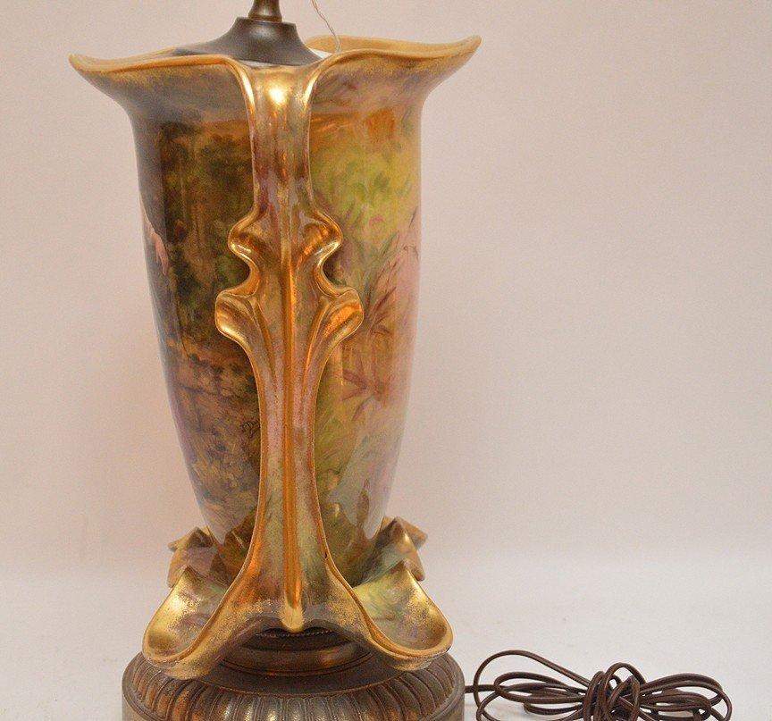"""Old Paris porcelain lamp, 32""""h - 5"""