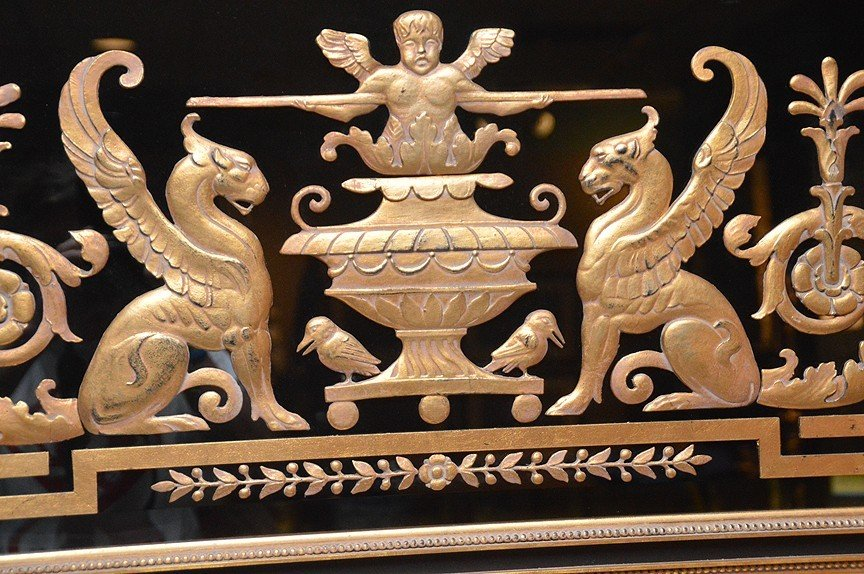 "Large Gilt wood Trumeau With Griffins.  73"" x 31"" - 3"