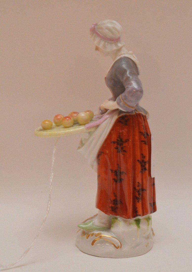 Meissen Porcelain Figure woman with fruit basket, Ht. 5 - 2