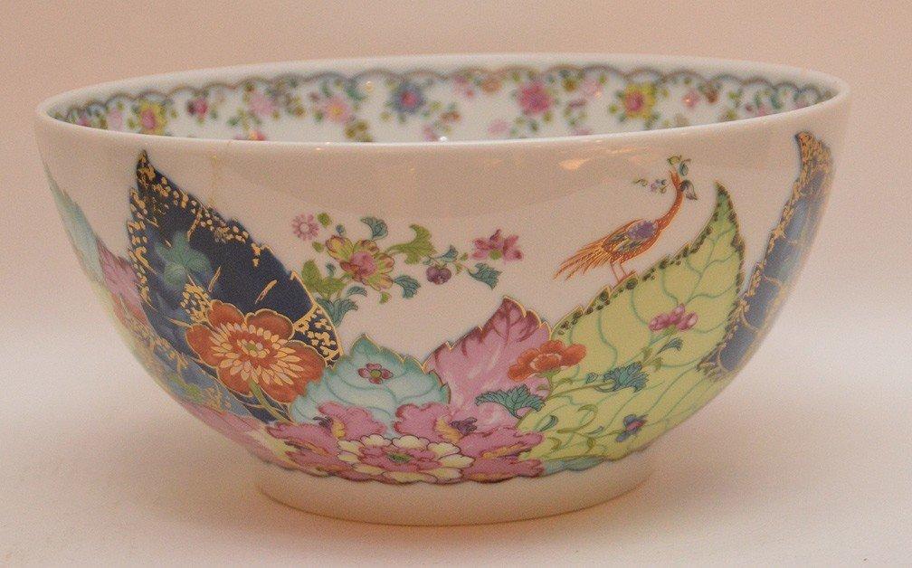 """Mottahedeh porcelain """"Tobacco Leaf"""" bowl, 9""""dia"""