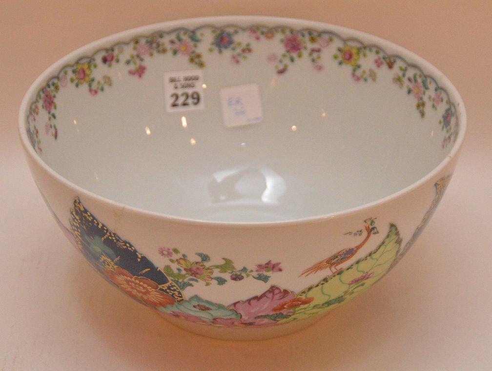 """Mottahedeh porcelain """"Tobacco Leaf"""" bowl, 9""""dia - 2"""