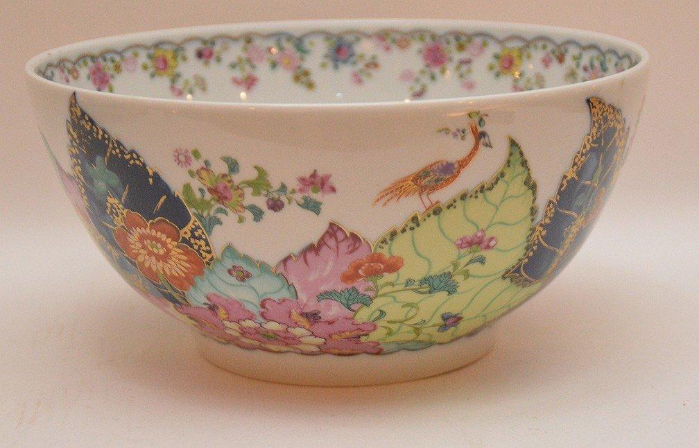 """Mottahedeh porcelain """"Tobacco Leaf"""" bowl, 9""""dia - 3"""