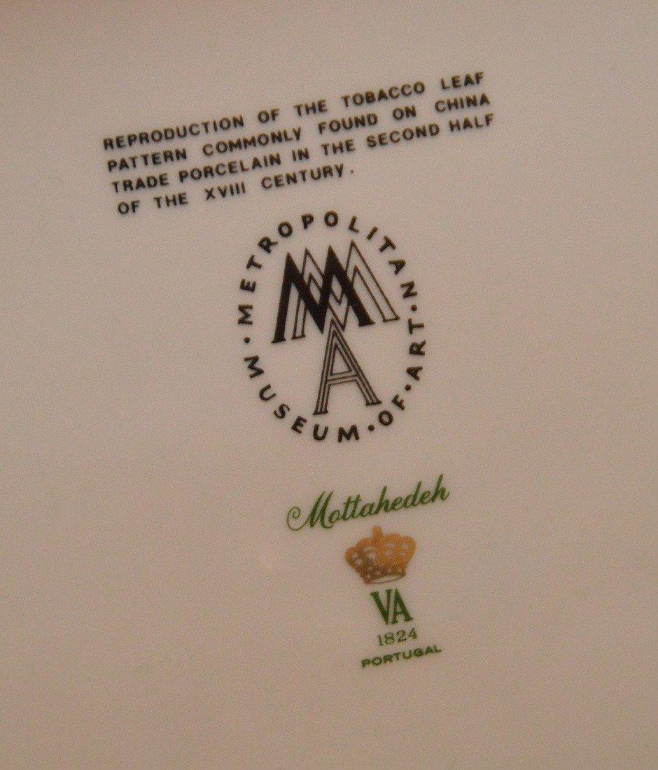 """Mottahedeh porcelain """"Tobbaco Leaf"""" large tureen, 9""""h x - 7"""