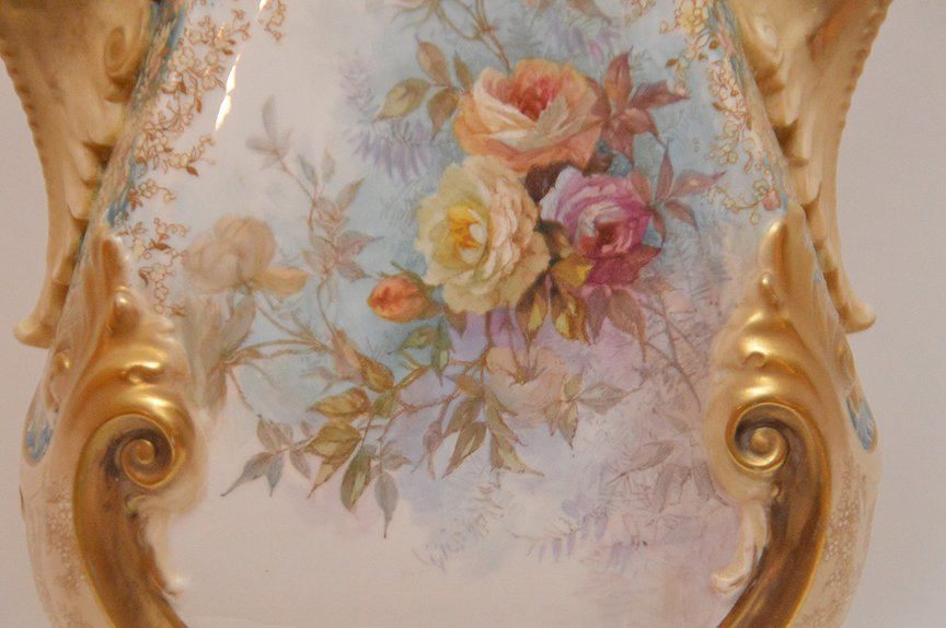 "Large Doulton Burselem Porcelain Vase. Ht. 20"" - 3"