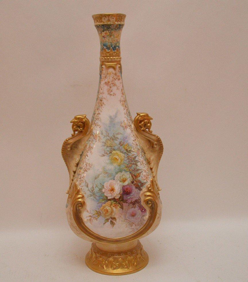 "Large Doulton Burselem Porcelain Vase. Ht. 20"" - 6"