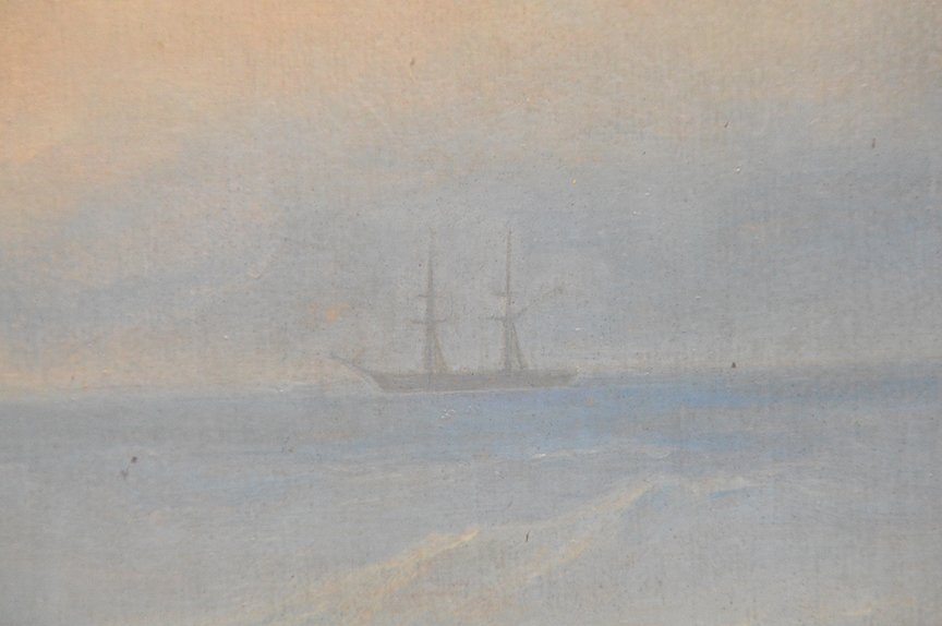 Russian seascape painting attributed to M. Apisov, oil - 3