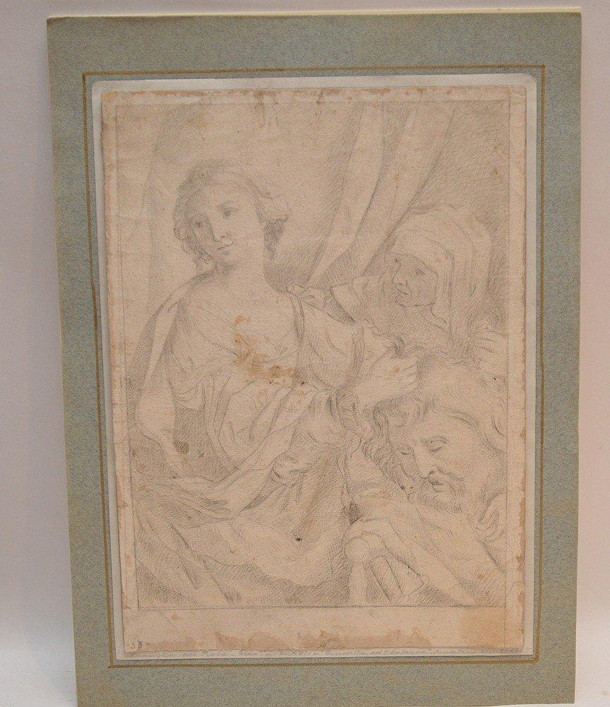 Elisabetta Sirani (Italian 1638-1665) prepatory pencil