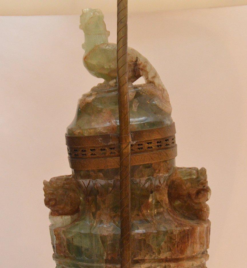 jade/ quartz urn style lamp 30 inches high - 6