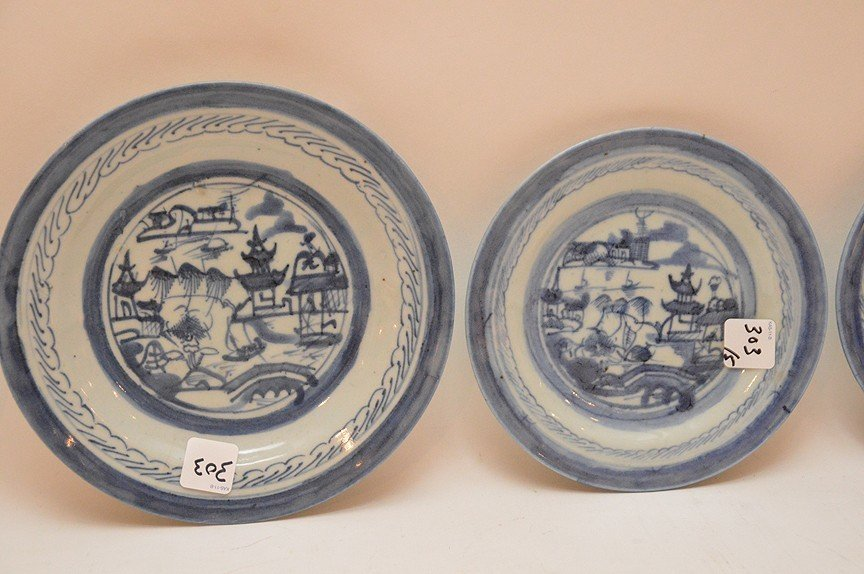 5 Assorted 19th Century Canton Porcelain Plates. - 3