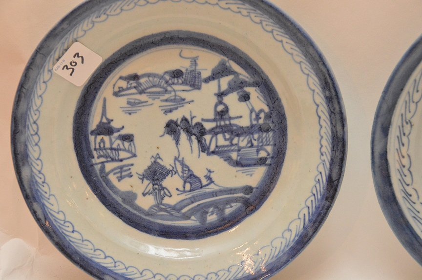 5 Assorted 19th Century Canton Porcelain Plates. - 4