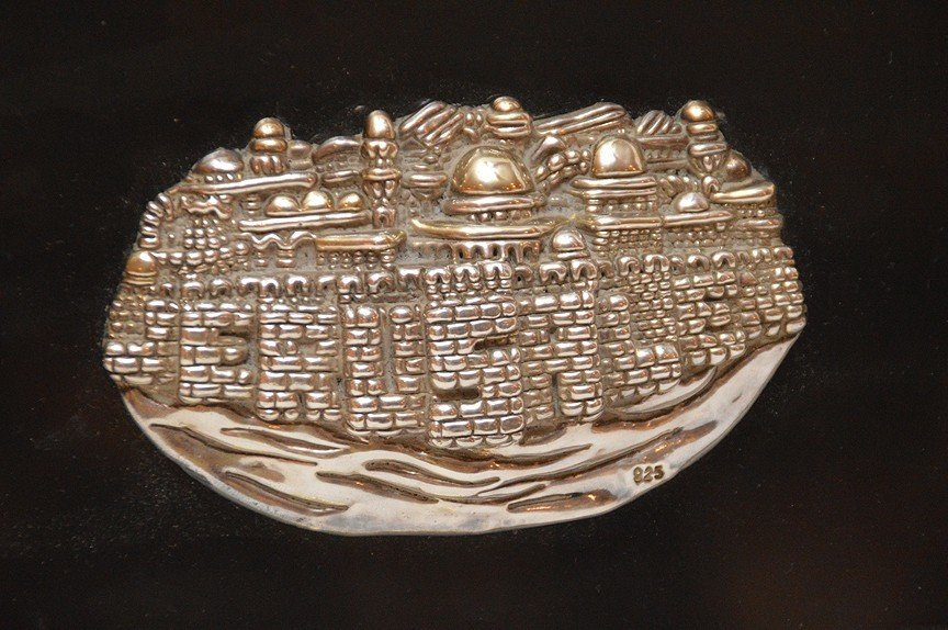 Ben Zion Sterling Silver Sculpture in relief mounted in - 3