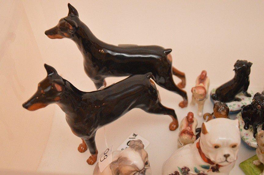 Lot 12 Assorted Porcelain Dogs.  Pair Royal Dolton - 2