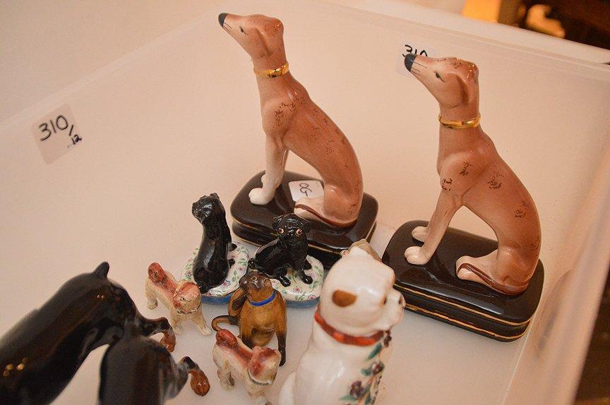 Lot 12 Assorted Porcelain Dogs.  Pair Royal Dolton - 3