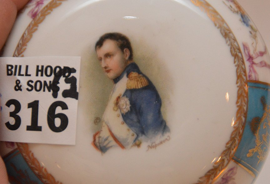 2 covered boxes, small Minton & Napoleon - 3