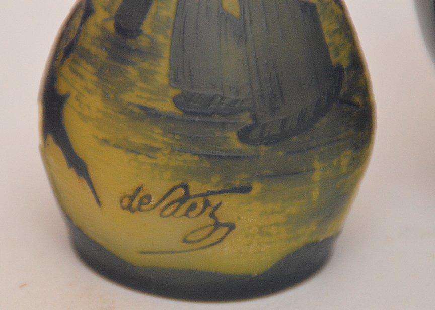 """Mini Rookwood vase (3 3/4""""h), mini German portrait vase - 3"""