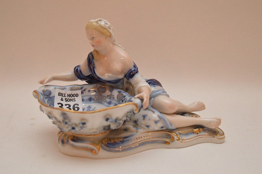 """Meissen porcelain sweet meat dish, 4 1/2""""h x 7""""w"""