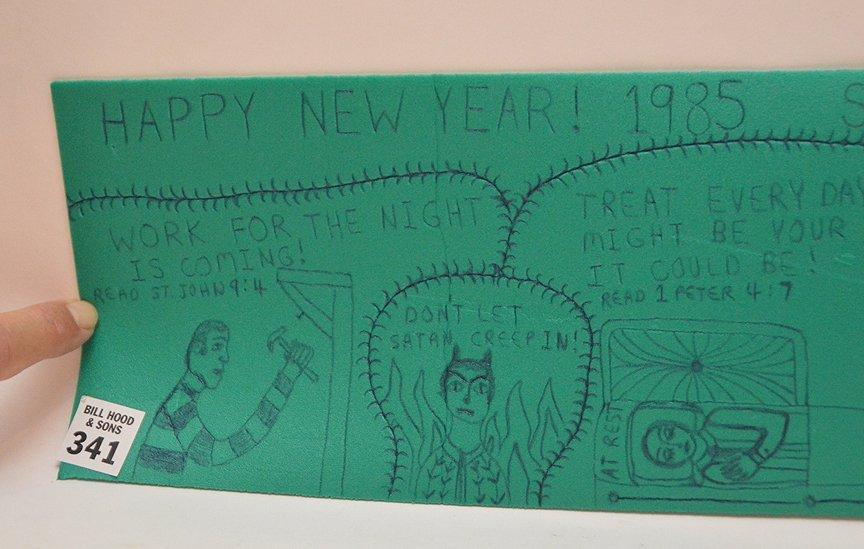 Happy New Year, Rodney Hardee folk artist from - 5