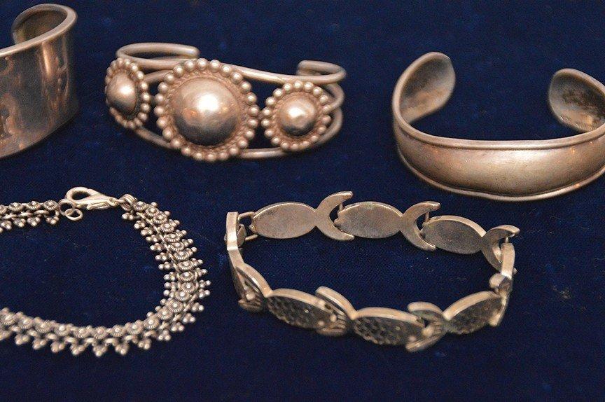 (7) sterling silver assorted bracelets - 2