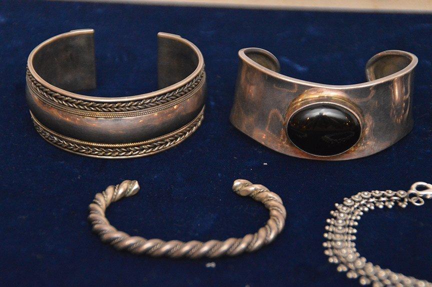 (7) sterling silver assorted bracelets - 3