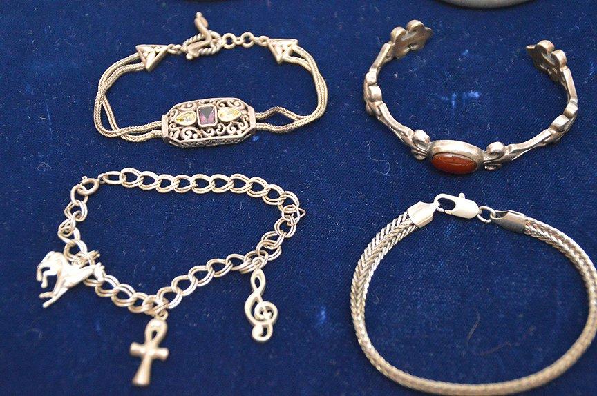 (10) assorted sterling bracelets - 2